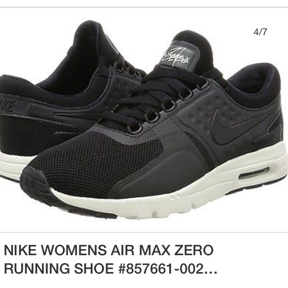 223f951757 Nike Shoes | Womens Air Max Zero Running Black White Sz65 | Poshmark